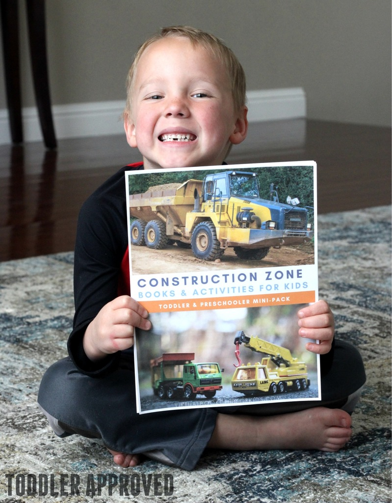 Construction Zone Mini Pack of Activities for Hands-on learn and fun for toddlers and preschoolers