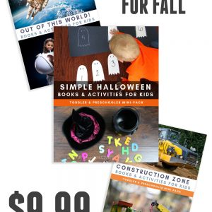 3 mini packs from the Virtual Book Club for Kids at a special discount for fall