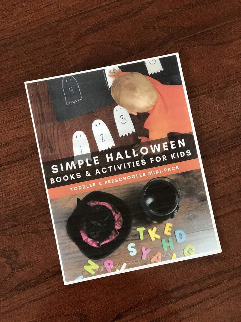 Halloween activity pack for Toddlers and Preschoolers with 7 fun and simple activities with step-by-step information