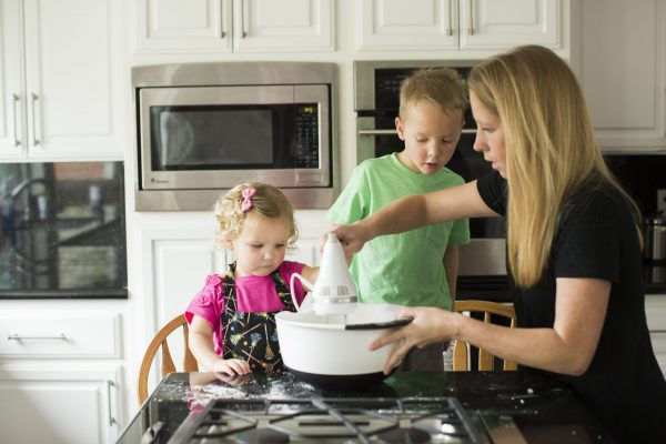 cooking with the kids - each week has at least once recipe of snack idea to make with the kids