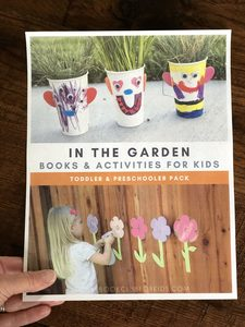Front cover of the in the garden mini pack from the Virtual Book Club for Kids