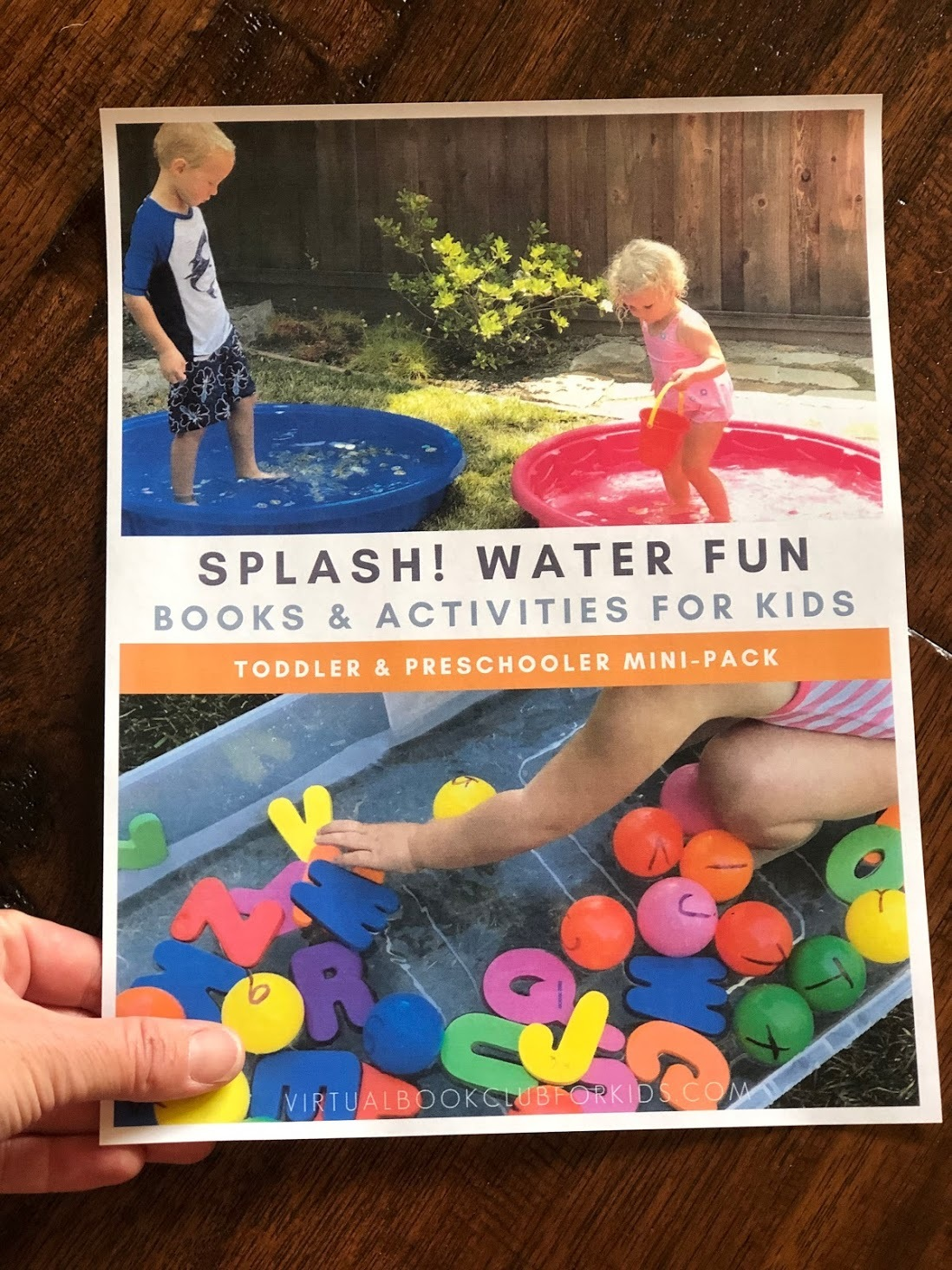 water themed mini-activity pack for toddlers and preschoolers